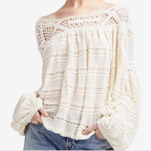 Free People Someday Crochet Sweater